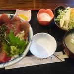 魚ちょ - ランチのマグロ丼