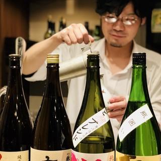 酵素剤不使用。本物の日本酒をお燗番が食事に合わせてご提案