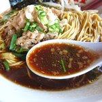 キリン食堂 - 色が濃いめのスープ