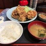 上州屋 - 料理写真:「唐揚げ定食」(900円)ごはん200gキャベツちょびっと