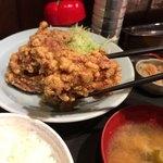上州屋 - 「唐揚げ定食」(900円)ごはん200gキャベツちょびっと