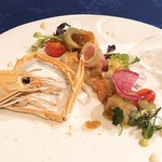 シーフードイタリアン ポルト - 料理写真:赤座海老と帆立貝のマリネ