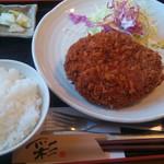 まるいち亭 - ジャンボメンチカツ定食