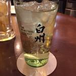 焼肉・塩ホルモン 三ちゃん - 白州森香るハイボール