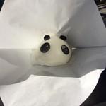 パークス - 「パンダまん」! 直径数センチ、中は漉し餡、160円。 愛らしく、美味しい小パンダです。