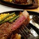 ジャンボステーキはらぺこや - サーロインステーキ リフト!&ハンバーグ
