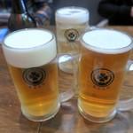 東京ミート酒場 - 生ビール(泡なし&泡あり)