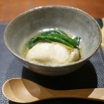 傳 - 牡蠣と蕪とほうれん草