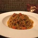 アルモニーア - 毛蟹を殻ごと煮出した贅沢なスパゲッティーニ