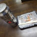 久保田屋酒店 - スーパードライ500mlと鶏軟骨からあげ