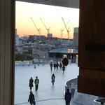 79269098 - 水戸駅の向こうの夕陽を望む