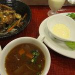 豆花 - 豆腐ハンバーグ&コロッケランチ