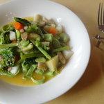 マリーノ - ランチセット:春野菜と白身魚の自家製フェットチーネ