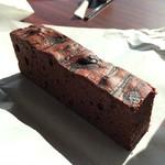天空カフェ・アウラ - セットにした芳醇チョコケーキ