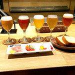 月と太陽ブルーイング - ビール5種&前菜