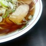 長尾中華そば - スープは動物系のダシはなく、煮干しのみ!