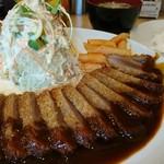 くま食堂 - くま食堂のビフカツ定食 1500円