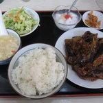 普天河 - 麻婆茄子定食 これで650円。