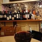 バーアムスルーム - 店内・メニュー・赤ワイン