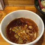 つけ麺 しろぼし - 甘味をともなうピリ辛のつけ汁('18/01/12)