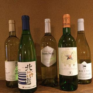 全国各地から厳選した【国産ワイン】多種ご用意しております。