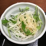 魚王KUNI(うおくに) - 大根と水菜のサラダ