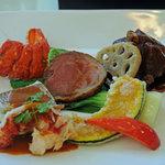 グリーンハウス - 本日の魚と肉料理の盛り合わせ