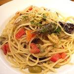 PIZZA SALVATORE CUOMO - 秋茄子とサンマのペペロンチーノ