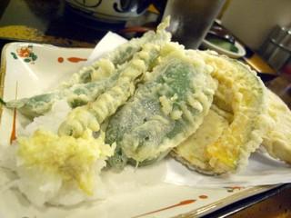 満留賀 - 野菜天(もりそばセット)
