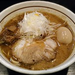 らーめん 颯人 - 【みそらーめん + 比内地鶏の味玉】¥930 + ¥180