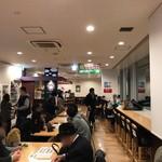 スカイライトカフェ - カフェ前のイートインコーナー