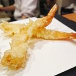 銀座 天ぷら 阿部 - エビ