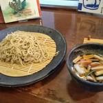 しゅばく - 「京鴨の鴨汁蕎麦」の大盛