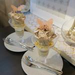 デザートカフェ ハチドリ - 料理写真:モンブランパフェ1