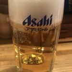 炭焼 やきとん なみ平 - 生ビール ¥480