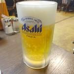萬里 - 生ビール(二杯目)