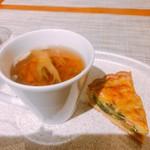 アトリエドフク - 前菜 洋風茶碗蒸しとキッシュ