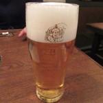 銀蕎麦 國定 - 生ビール