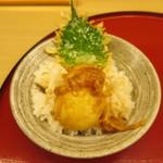 天ぷら やす田 - 卵天丼@500円(税込み)