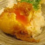 天ぷら やす田 - 良い具合の半熟さです