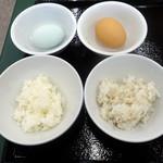 レストラン東北牧場 - 朝食ビュッフェ1,188円、TKG2つ作ります①