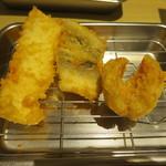 博多天ぷら たかお - 追加でいか、穴子、金目鯛