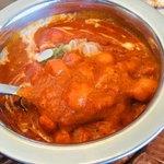 アジアンレストラン コピラ - キーマ豆カレーのアップ。豆はヒヨコ。