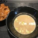煮干乱舞 - 鶏豚スープ投入   このスープ割ハンパなく美味かった