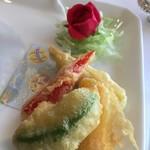 花梨 - アボガドとキノコの中華天麩羅