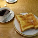 丸福珈琲店 - ブレンドとモーニングトースト