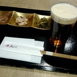 79337986 - 生ビール&おつまみセット1080円