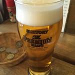 E-YANAKA - 「生ビール」プレミアムモルツ。400円也。