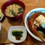 酢重ダイニング - 茄子ときのこの揚げ出し豆腐