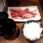 炭火焼肉 ぶち - 和牛ロースランチ(2017.12)